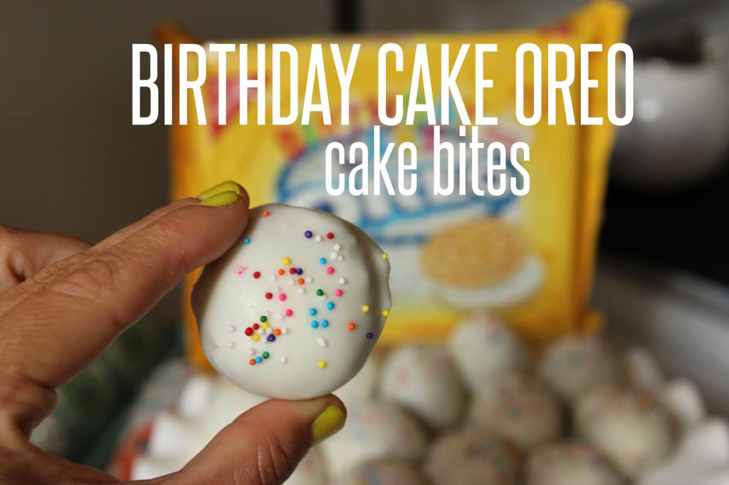 BIRTHDAY CAKE OREO BITES