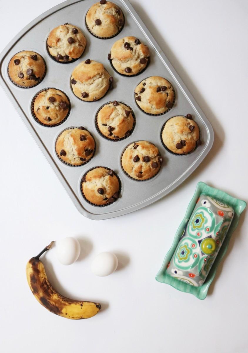 Banana Chocolate Chip Muffins / Willivia